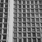 Alot Of Windows In Black And White Poster