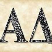Alpha Delta - Parchment Poster
