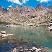 Alpine Lake Beneath Sunlight Peak Poster