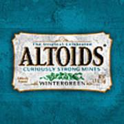Altoids Wintergreen Scratches Poster
