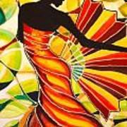 Alysia The Fan Dancer Caye Caulker Belize Poster