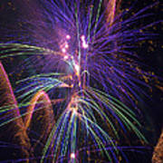 Amazing Beautiful Fireworks Poster