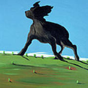 Amazing Black Dog, 2000 Poster by Marjorie Weiss