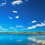 Amazing Clear Lake Under Blue Sunny Sky Poster