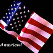 America Greeting Card Poster