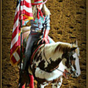 America -- Rodeo-style Poster