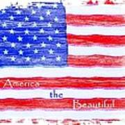 America The Beautiful Poster by Robert ONeil