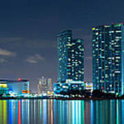 American Airlines Arena And Condominiums Poster