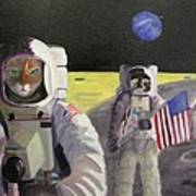 American Cat Astronauts Poster