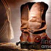 American Cowboy Boots Poster