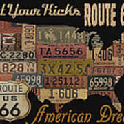 American Dream-route 66 Poster