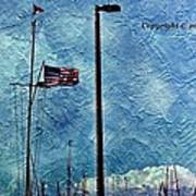 American Flag As A Painting Poster