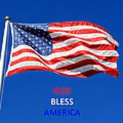 American Flag - God Bless America Poster