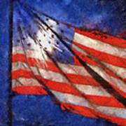 American Flag Photo Art 02 Poster