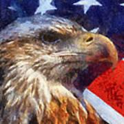 American Flag Photo Art 04 Poster