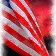 American Flag Photo Art 07 Poster