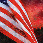 American Flag Photo Art 08 Poster