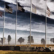 American Flag Still Standing Poster by Luther Fine Art