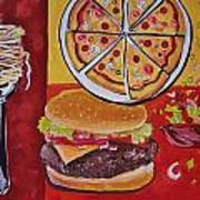 American Food Pop Art Poster