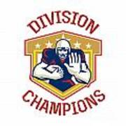 American Football Division Champions Shield Poster by Aloysius Patrimonio