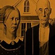 American Gothic In Orange Poster