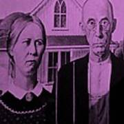 American Gothic In Pink Poster