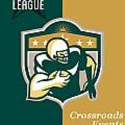 American Gridiron All Star League Poster Poster by Aloysius Patrimonio