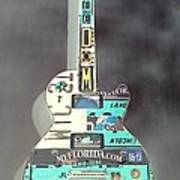 American Guitar In Neagtive Poster