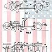 American Made Corvette Patent Poster