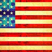 American Money Flag Poster