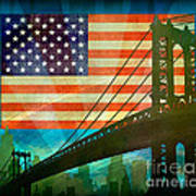 American Pride Poster by Bedros Awak
