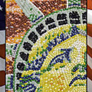 American Statue Of Liberty Mosaic  Poster