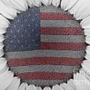 American Sunflower Power Poster