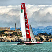 America's Cup And Alcatraz Ll Poster