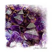 Amethyst Crystals. Elegant Knickknacks From Jenny Rainbow Poster