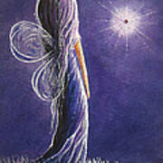 Amethyst Fairy By Shawna Erback Poster by Shawna Erback