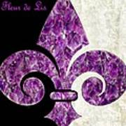 Amethyst Fleur De Lis Poster