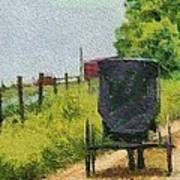 Amish Buggy In Ohio Poster