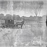Amish Buggy In Old Book Poster