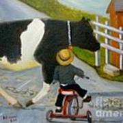 Amish Cattle Crossing Poster