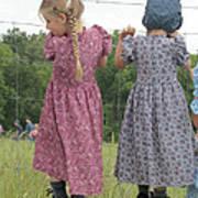 Amish Girls Having Fun Poster