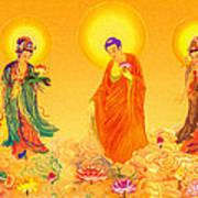 Amitabha And Two Bodhisattvas Poster