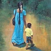 Amma's Grip Leads. Poster by Usha Shantharam