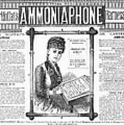 Ammoniaphone, 1885 Poster