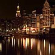 Amsterdam At Night Poster