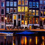 Amsterdam At Night IIi Poster