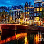 Amsterdam At Night Iv Poster
