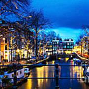 Amsterdam At Night V Poster