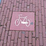 Amsterdam Bicycle Lane Poster