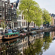 Amsterdam Canal In Spring Poster
